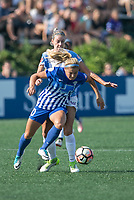 Allston, MA - Saturday August 19, 2017: Rosie White, Alanna Kennedy during a regular season National Women's Soccer League (NWSL) match between the Boston Breakers and the Orlando Pride at Jordan Field.
