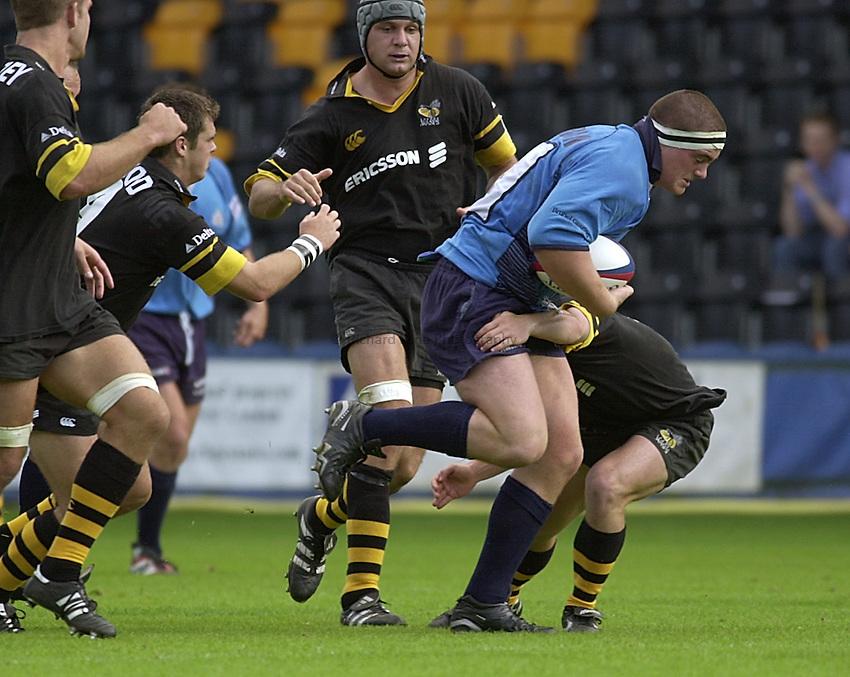 Photo:Ken Brown.3.9.2000 Wasps v Bristol, Zurich Premiership.Andrew Sheridan.