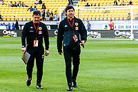 Wellington assistant coach Dario Pot (left) and head coach Darije Kalezic the A-League football match between Wellington Phoenix and Sydney Wanderers at Westpac Stadium in Wellington, New Zealand on Saturday, 13 January 2018. Photo: Mike Moran / lintottphoto.co.nz