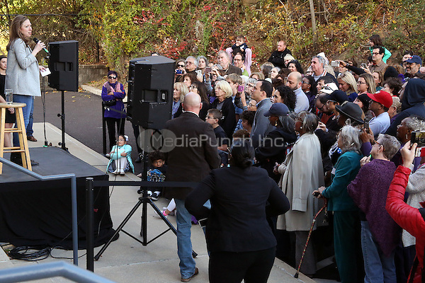 ELKINS PARK, PA - NOVEMBER 6 : Chelsea Clinton pictured campaigning in Pennsylvania for Hillary Clinton at  a series of Get Out the Vote kickoffs in Southeast Pennsylvania, she laid out the stakes of November's election and urged Pennsylvanians to support Hillary Clinton and Tim Kaine's vision of an America that is stronger together, with an economy that works for everyone, not just those at the top at the Elkins Park Coordinated Campaign Office in Elkins Park, Pa on November 6, 2016  photo credit Star Shooter/MediaPunch