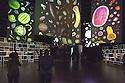 Large panels with photographs of the agricultural products and the display cases on the walls containing the seeds of the products, at the Zero Pavilion, the pavilion that introduces visitors to the theme of Expo 2015: Feeding the planet - Energy for life, Rho-Pero, Milan, 2015. &copy; Carlo Cerchioili <br /> <br /> Grandi pannelli con le fotografie dei prodotti dell'agricoltura e alle pareti le teche contengono i semi dei prodotti, al Padiglione Zero, il padiglione che introduce il visitatore al tema di Expo 2015: Nutrire il Pianeta - Energia per la vita, Rho-Pero, Milano, 2015.