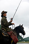 Chris fishing, Pagashak Ranch, Kodiak Island, Alaska