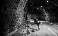 Yukiya Arashiro (JAP/Bahrain-Merida) closing the line inside a rock tunnel<br /> <br /> stage 7: Aoste &gt; Alpe d'Huez (168km)<br /> 69th Crit&eacute;rium du Dauphin&eacute; 2017