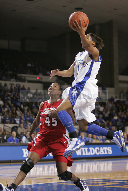 UK's A'dia Mathies lays the ball up against Ole Miss at Memorial Coliseum on Thursday, Feb. 4, 2010. Photo by Scott Hannigan | Staff