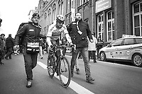 Peter Sagan (SVK/Bora-Hansgrohe) after finishing 2nd<br /> <br /> 72nd Omloop Het Nieuwsblad 2017