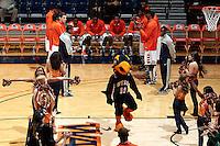SAN ANTONIO, TX - NOVEMBER 1, 2012: The Southeastern Oklahoma State University Savage Storm vs. The University of Texas at San Antonio Roadrunners Men's Basketball at the UTSA Convocation Center. (Photo by Jeff Huehn)