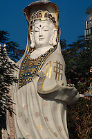 China, Hongkong-Repulse Bay, im Life Guard Club, Statue der Kwun Yum