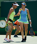 March 29 2017: Andreja Klepac (SLO)/Maria Jose Martinez Sanchez (ESP) loses to Martina Hingis (SUI)/Yung-Jan Chan (TPE) 6-4, 6-2, at the Miami Open being played at Crandon Park Tennis Center in Miami, Key Biscayne, Florida. ©Karla Kinne/tennisclix/EQ