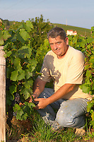 Gerard Melinon, winemaker owner. Domaine Melinon, Morgon, Beaujolais, France