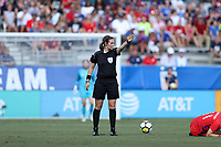 Cary, NC - Sunday October 22, 2017: Sheena Dickson during an International friendly match between the Women's National teams of the United States (USA) and South Korea (KOR) at Sahlen's Stadium at WakeMed Soccer Park. The U.S. won the game 6-0.