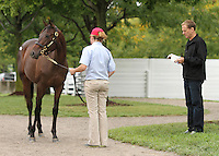 Hip #40 Empire Maker - Ticker Tape filly being at the  Keeneland September Yearling Sale.  September 9, 2012.