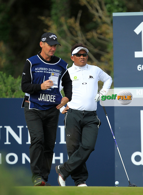 Thongchai Jaidee during Round 1of the Alfred Dunhill Links Championship at Kingsbarns Golf Club on Thursday 26th September 2013.<br /> Picture:  Thos Caffrey / www.golffile.ie