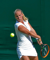 England, London, June 29, 2015, Tennis, Wimbledon, Richel Hogenkamp (NED)<br /> Photo: Tennisimages/Henk Koster