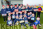 Pupils from Scoil an Ghleanna, The Glen with their Christmas Shoe boxes ready for collection on Monday.