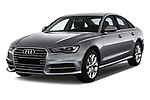 2018 Audi A6 Base 4 Door Sedan angular front stock photos of front three quarter view
