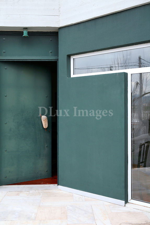 industrial metal front entry