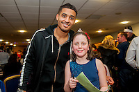 Tuesday  15 December 2015<br /> Pictured: Kyle Naughton<br /> Re: Kids SCFC Christmas Party at the Liberty Stadium, Swansea