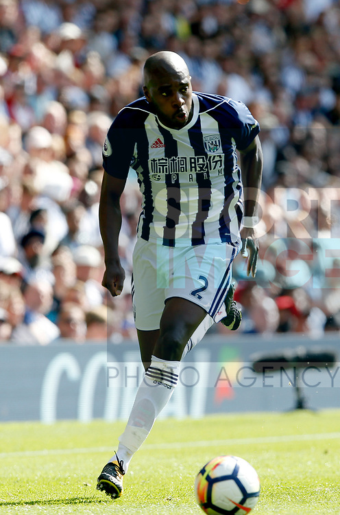 Allan-Romeo Nyom of West Bromwich Albion  during the premier league match at the Hawthorn's Stadium, West Bromwich. Picture date 27th August 2017. Picture credit should read: Simon Bellis/Sportimage