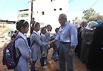 Palestinian Prime Minister Salam Fayyad visits the village of Ezbet al-Tabib in the West Bank city of Qalqilya,11 October 2012. Photo by Mustafa Abu Dayeh