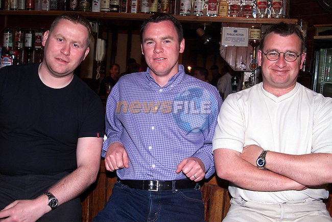 Bobby McGuinness, Paddy Sweeney and Niall Moroney enjoying a night out in Carleys..Picture: Paul Mohan/Newsfile