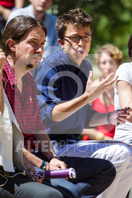 Pablo Iglesias and Inigo Errejon during the presentation of the electioneering of Unidos Podemos. Jun 2,2016. (ALTERPHOTOS/Rodrigo Jimenez)
