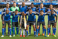 San Jose, CA - Sunday, September 27, 2015: The San Jose Earthquakes defeated Real Salt Lake 1-0 at Avaya Stadium.