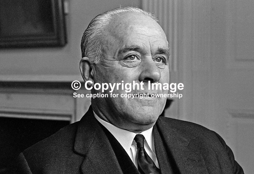 John Andrews, Ulster Unionist, leader, Senate, N Ireland Parliament, Stormont, 19660600118JA.<br /> <br /> Copyright Image from Victor Patterson,<br /> 54 Dorchester Park, Belfast, UK, BT9 6RJ<br /> <br /> t1: +44 28 90661296<br /> t2: +44 28 90022446<br /> m: +44 7802 353836<br /> <br /> e1: victorpatterson@me.com<br /> e2: victorpatterson@gmail.com<br /> <br /> For my Terms and Conditions of Use go to<br /> www.victorpatterson.com
