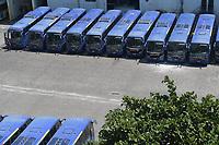 Rio de Janeiro (RJ), 19/03/2020 - Covid-19-Rio - Para prevencao ao coronavirus (Covid-19) onibus do transporte publico foi reduzido e assim os onibus lotam a garagem da empresa Redentor na zona oeste do Rio de Janeiro, nesta qunta-feira (19). (Foto: Alexandre Durao/Codigo 19/Codigo 19)