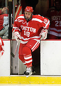 Wade Megan (BU - 18) - The Boston University Terriers defeated the Harvard University Crimson 6-5 in overtime on Tuesday, November 24, 2009, at Bright Hockey Center in Cambridge, Massachusetts.