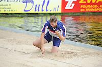 FIERLJEPPEN: GRIJPSKERK: Fierljepaccomodatie 'De Enk', 16-08-2014, ROC Friese Poort competitie 2014, Thewis Hobma, ©foto Martin de Jong