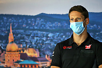 16th July 2020, Hungaroring, Budapest, Hungary; F1 Grand Prix of Hungary, drivers arrival and track inspection day;  8 Romain Grosjean FRA, Haas F1 Team