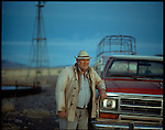 2003 - Nature - White Sands, New Mexico. Big John is a cattle farmer in Southern New Mexico shown here on his ranch at twilight..