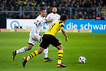 09.02.2019, Signal Iduna Park, Dortmund, GER, 1.FBL, Borussia Dortmund vs TSG 1899 Hoffenheim, DFL REGULATIONS PROHIBIT ANY USE OF PHOTOGRAPHS AS IMAGE SEQUENCES AND/OR QUASI-VIDEO<br /> <br /> im Bild | picture shows:<br /> Pavel Kaderabek (Hoffenheim #3) im Duell mit Raphael Guerreiro (Borussia Dortmund #13),  <br /> <br /> Foto © nordphoto / Rauch
