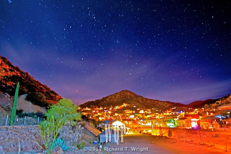 Bisbee Arizona at night
