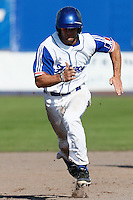 09 September 2012: France Joris Bert runs to the third base during France 9-8 win in over Belgium, at the 2012 European Championship, in Utrecht, Netherlands.