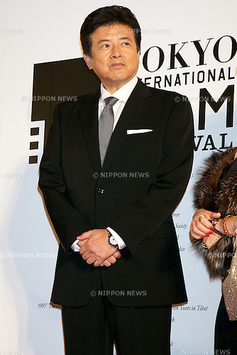 "Tomokazu Miura, October 23 2014, Tokyo, Japan: Actor of the movie ""UNTIL THE DAY COMES"" Tomokazu Miura poses for the cameras at the 27th Tokyo International Film Festival, Opening Event Red Carpet at Roppongi Hills Arena in Tokyo, Japan, October 23, 2014. This year the Prime Minister Shinzo Abe attends the opening ceremony. The Film Festival will run through until Friday 31. (Photo by Rodrigo Reyes Marin/AFLO)"