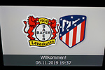 06.11.2019, BayArena, Leverkusen, Championsleague, Vorrunde, 4. Spieltag, GER, UEFA  CL, Bayer 04 Leverkusen (GER) vs. Atletiko Madrid (ESP),<br />  <br /> DFL regulations prohibit any use of photographs as image sequences and/or quasi-video<br /> <br /> im Bild / picture shows: <br /> Willkommen auf den Scananlagen <br /> <br /> Foto © nordphoto / Meuter<br /> <br /> <br /> <br /> Foto © nordphoto / Meuter