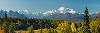 Southside view of Denali, North America's tallest peak at approximately 20,237 ft. (6,168m). Alaska.