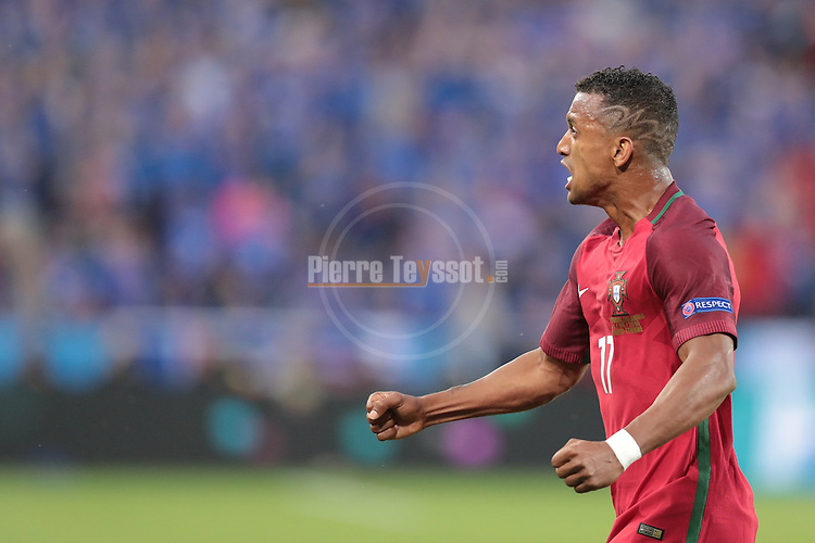 Nani reacts after his goal at the football match Portugal vs Iceland at the UEFA EURO 2016 FRANCE at Saint-Etienne, on June 14, 2016.