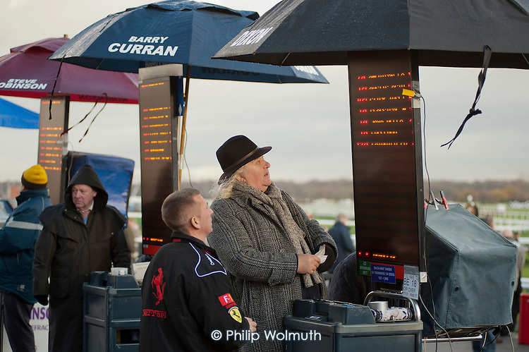 On-course bookmaker at Doncaster racecourse.