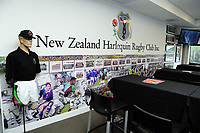 NZ Harlequin Rugby Clubrooms. Day one of the 2018 HSBC World Sevens Series Hamilton at FMG Stadium in Hamilton, New Zealand on Saturday, 3 February 2018. Photo: Dave Lintott / lintottphoto.co.nz
