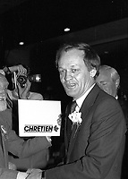 Jean Chretien attend the Liberal Party of Canada  leadership debate, at the Queen Elizabeth Hotel,April 13, 1984