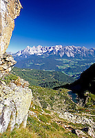 Austria, Styria, view from Reiteralm Panorama Trail towards Dachstein mountains