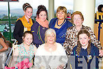 TRACK TIME: Enjoying a great time at the Kingdom Greyhound Stadium Night at the Dogs on Saturday seated l-r: Cara Quinlan, Carmel Quirke and Maria Quirke. Back l-r: Christina Ross, Nicole O'Connor, Maggie Quinlan and Chrisse Maunsell.