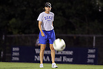 29 September 2011: Duke assistant coach Carla Overbeck. The Duke University Blue Devils and the University of Virginia Cavaliers played to a 0-0 tie after overtime at Koskinen Stadium in Durham, North Carolina in an NCAA Division I Women's Soccer game.