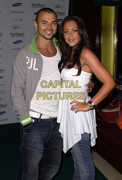 ANDY SCOTT-LEE & MICHELLE HEATON .At Charity Glam Slam Poker Tournament, .Titanic, Brewer Street, London, England, .April 22nd 2006..half length couple engaged scott lee green and grey top white strapless.Ref: CAN.www.capitalpictures.com.sales@capitalpictures.com.©Can Nguyen/Capital Pictures