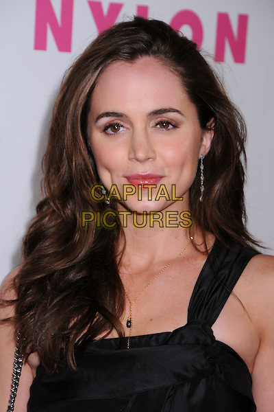 ELIZA DUSHKU.Nylon Magazine and MySpace Celebrate their 3rd Annual Music Issue, Hollywood, California, USA..June 3rd, 2008.headshot portrait black .CAP/ADM/BP.©Byron Purvis/AdMedia/Capital Pictures.
