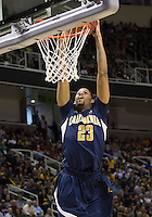 March 21st, 2013: California's Allen Crabbe dunks the ball during a game against UNLV at HP Pavilion, San Jose, California. California defeated UNLV 64 - 61