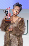 """November 11, 2018, Tokyo, Japan - Japanese actor Peter (Shinnosuke Ikehata) holds the trophy as he received the """"Nail Queen Award 2018"""" at the annual Tokyo Nail Expo in Tokyo on Sunday, November 11, 2018.     (Photo by Yoshio Tsunoda/AFLO) LWX -ytd-"""
