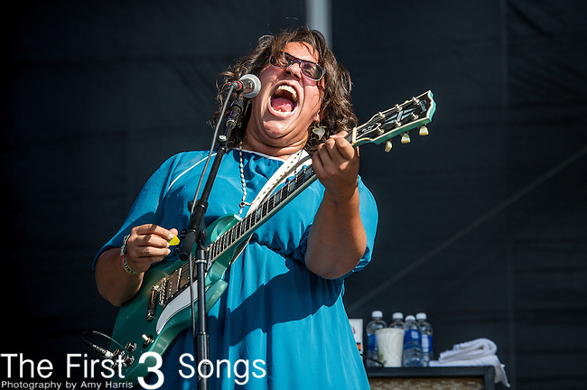 Brittany Howard of Alabama Shakes performs during Day 2 of the 2013 Firefly Music Festival in Dover, Delaware.